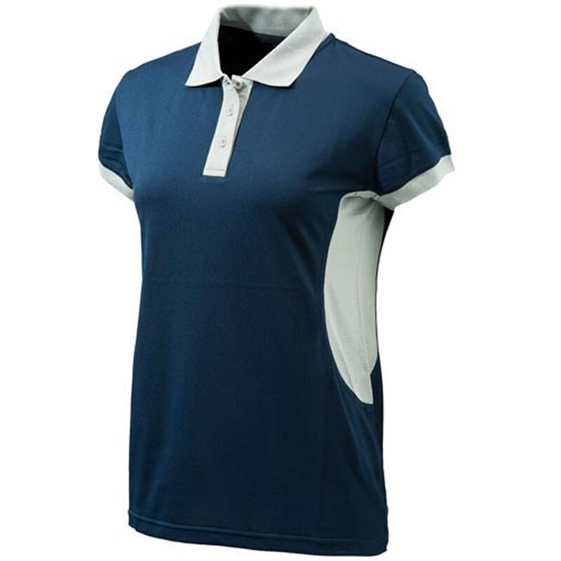 Beretta Special Purchase Women's Silver Pigeon Polo Short Sleeve Large Cotton Ash and Silver