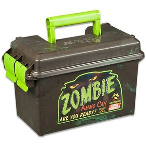 MTM Case-Gard Zombie .50 Caliber Ammo Can, Polypropylene, Zombie Green