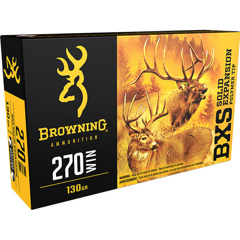 Browning .270 Winchester Ammunition 20 Rounds BXS 130 Grains