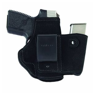 Galco WalkAbout Ruger LC9, GLOCK 42 Inside Waistband Holster Right Hand Leather Black WLK460B