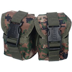 UTG Molle Pineapple Grenade Pouch, Woodland Digital