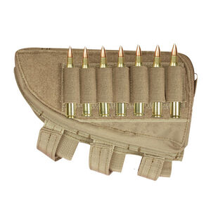 Fox Outdoor Rifle Butt Stock Cheek Rest Left Hand Coyote Tan 55-478
