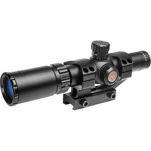 "TRUGLO TRU-BRITE 30 Series 1-4x24 Tactical Rifle Scope Duplex Mil-Dot Reticle 30mm Tube 1/2"" MOA Adjustment Fully Coated Lenses Matte Finish Black"