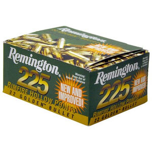 Remington 22 Golden Bullet .22 LR Ammunition 36 Grain Plated HP Bullet 1280fps