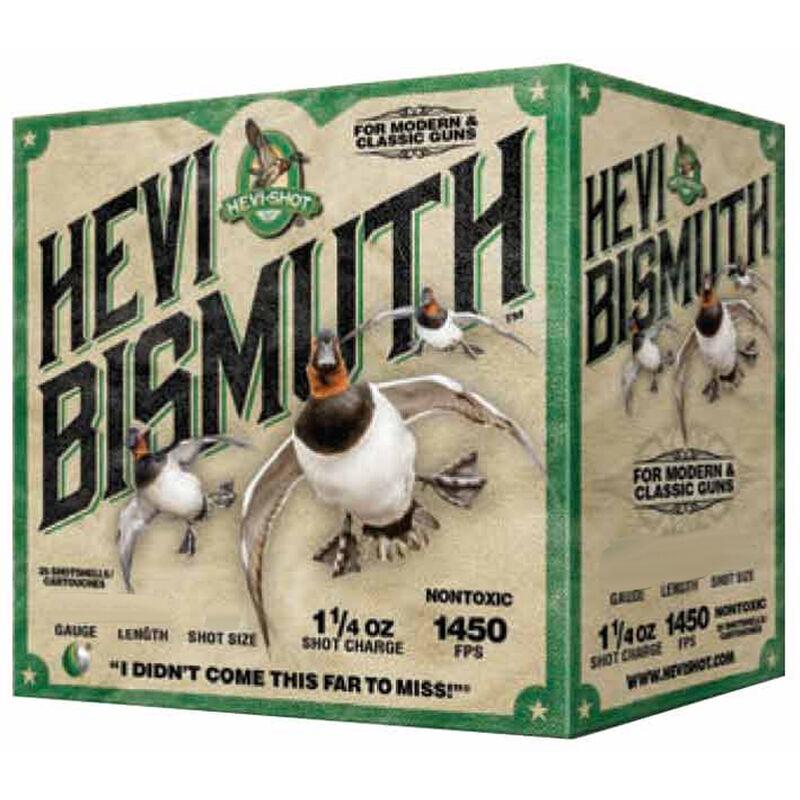 """Hevi-Shot Hevi Bismuth Waterfowl Ammunition 12 Gauge 25 Rounds 2-3/4"""" #2 Hevi-Bismuth Shot 1450 fps"""