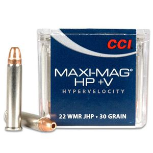 CCI Maxi-Mag .22 WMR Ammunition 50 Rounds JHP 30 Grains 2,200 Feet Per Second