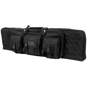 """VISM Double Carbine Soft Case 36"""" Heavy Duty 600D PVC Black CVDC2946B-36"""