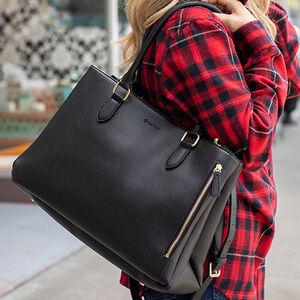 Tactica Defense Fashion Elegant Protection Conceal Carry Handbag Purse Shoulder Bag Ambidextrous Butterscotch