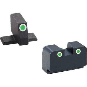 AmeriGlo Classic Springfield XD Night Sights Dual Green Suppressor Height Steel Black XD-181