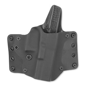"""BlackPoint Tactical Leather WING Belt Holster Right Hand 15 Degree Cant Fits GLOCK 19/23/32 1.75"""" Belts Kydex/Leather Black/Black"""