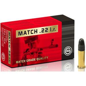 GECO .22 Long Rifle Match Ammunition 50 Rounds 40 Grain Lead Round Nose