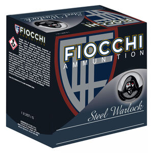 "Fiocchi Steel Warlock 12 Gauge Ammunition 3"" #4 1-1/5 oz Steel Shot 1550 fps"