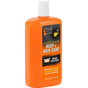 Dead Down Wind Hair & Body Soap Scent Elimination Body Wash Liquid 16 oz Bottle