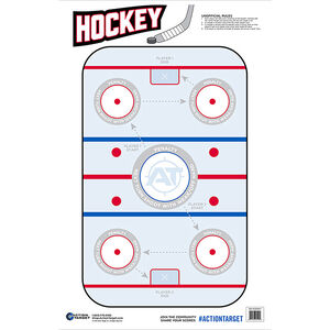 """Action Target Ice Hockey Target 23"""" x 35"""" 100 Count"""