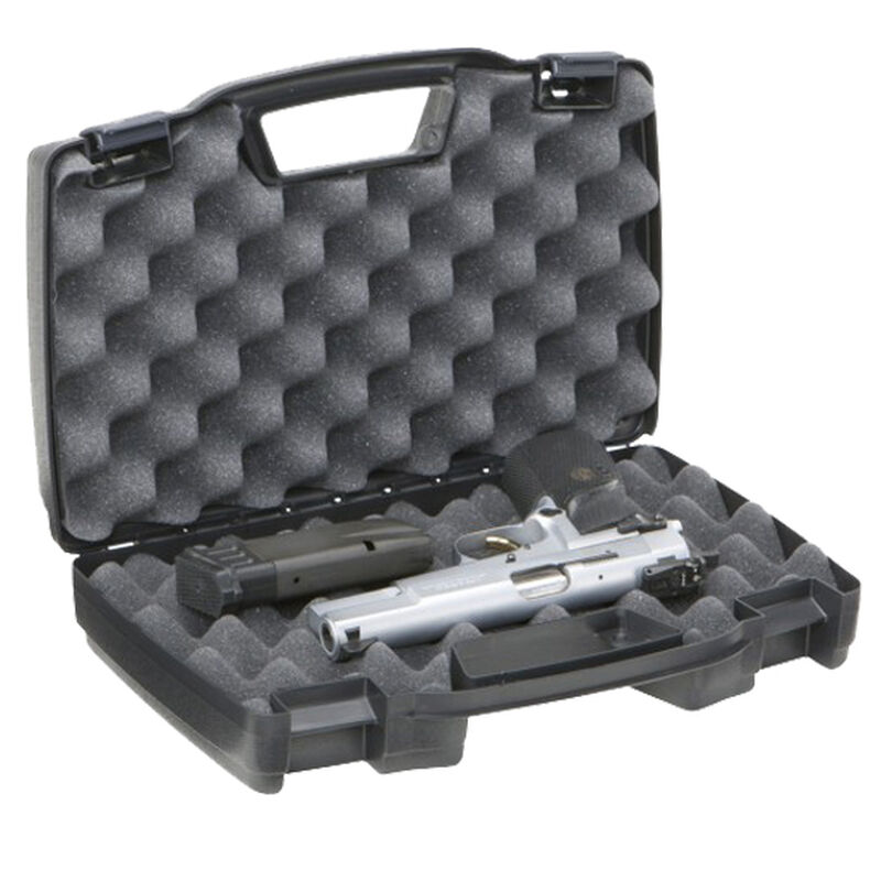 Plano Protector Series Single Pistol Case Heavy Duty Latches Molded In Handle Thick Walled Construction Polymer Matte Black 140300