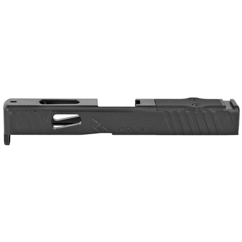 Rival Arms Slide for GLOCK 19 Gen 4 Models DOC Optic Cut CNC Machined 17-4PH Stainless Steel Billet Matte Black Finish