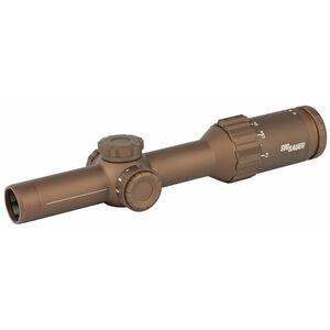 Sig Sauer TANGO6T 1-6x24mm Rifle Scope DWLR6 Reticle 30mm Tube 0.2 MRAD Adjustment FFP