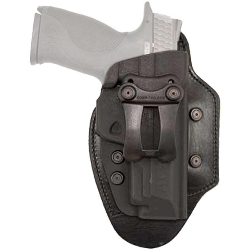 """Comp-Tac Infidel Ultra Max Holster Walther PPQ with 4"""" Barrel IWB Hybrid Right Handed Leather/Kydex Black"""