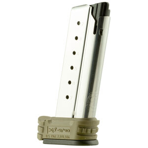 Springfield Armory XD-S 7 Round Magazine .40 S&W with X-Tension Sleeve Stainless Steel Flat Dark Earth