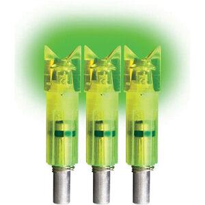 "Lumenoks ECC Easton Carbon Crescent Green Illuminated Crossbow Nock .297"" ID 3 Pack ECC3G"
