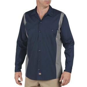 Dickies Men's Industrial Color Block Shirt L/S Medium Dark Navy/Smoke