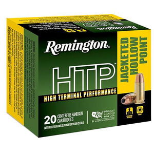 Remington HTP .357 Magnum Ammunition 20 Rounds 110 Grain SJHP 1295fps