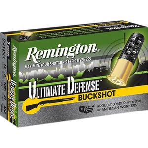"""Remington Ultimate Defense 12 Gauge Ammunition 5 Rounds 3"""" #4 Buck 41 Pellets 12HB4HD"""