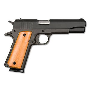 "Armscor Rock Island 1911A1 Mil-Spec Semi Auto Handgun .45 ACP 5"" Barrel 8 Rounds Wooden Grips Parkerized Black"
