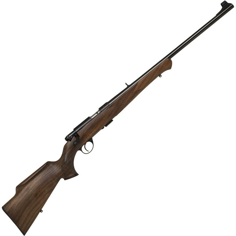 "Anschutz 1710 D KL Nuss Monte Carlo Bolt Action Rifle .22 LR 23.75"" Barrel 5 Rounds Single Stage Trigger Open Sights Walnut Stock Blued Finish 000439"