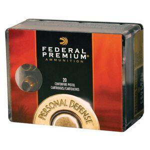 Federal Personal Defense .45 ACP Ammunition 20 Rounds Reduced Recoil Hydra-Shok JHP 165 Grain 1,060 Feet Per Second