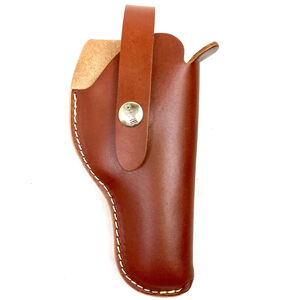 "Hunter Company VersaFit 3.5"" to 5"" Barrel Single Action Revolvers Belt Holster Right Hand Retention Strap Hand Crafted Top Grain Leather Brown"
