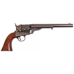 "Cimarron Firearms 1860 Richards-Mason .38 Special Single Action Revolver, 8"" Barrel, 6 Rounds, Walnut Grips, Millennium Case, Hardened/Blued Finish"