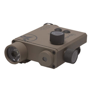 Firefield Charge XLT Green Laser Sight with Light 220 Lumens CR123A Battery Picatinny Mount Thermoplastic Housing FDE