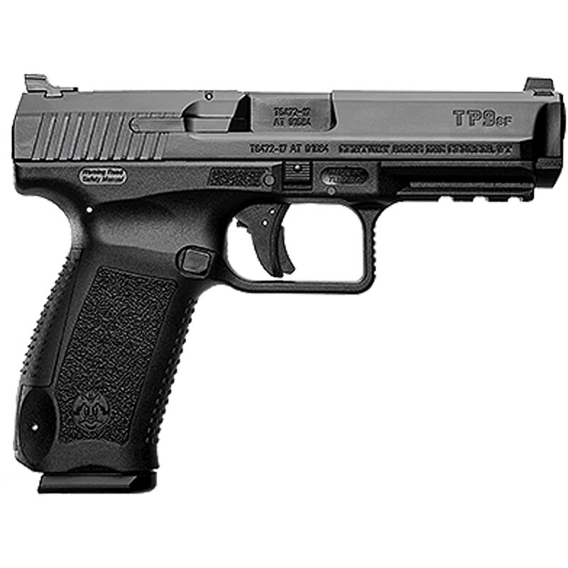 "Century Arms Canik TP9SF ONE 9mm Luger Semi Auto Handgun 4.46"" Barrel 18 Rounds Changeable Backstrap Polymer Frame Black Finish"