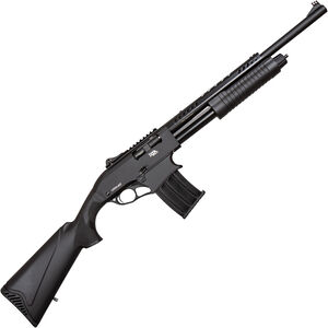 "RIA Imports VRPA40 12 Gauge Mag Fed Pump Action Shotgun 20"" Barrel 3"" Chamber 5 Rounds Aluminum Receiver Polymer Furniture Black"