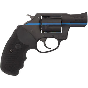 "Charter Arms 911 Blue .38 Special Revolver 2"" Barrel 5 Rounds Steel Cylinder Aluminum Alloy Frame Rubber Grips Black with Blue Line"