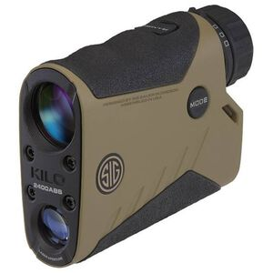 SIG Sauer Kilo2400ABS 7x25 Ballistic Laser Rangefinder With Applied Ballistics System Non-Reflective Target 1500 Yards/Reflective Target 3400 Yards SpectraCoat Lens Magnesium Housing Flat Dark Earth