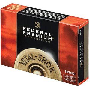 """Federal 12 Gauge Ammunition 5 Rounds 3.5"""" 00 Buck 18 Pellets"""