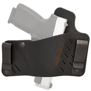 VersaCarry Protector S2 Size 1 IWB/OWB Tuckable Holster Right Hand Draw Leather Black
