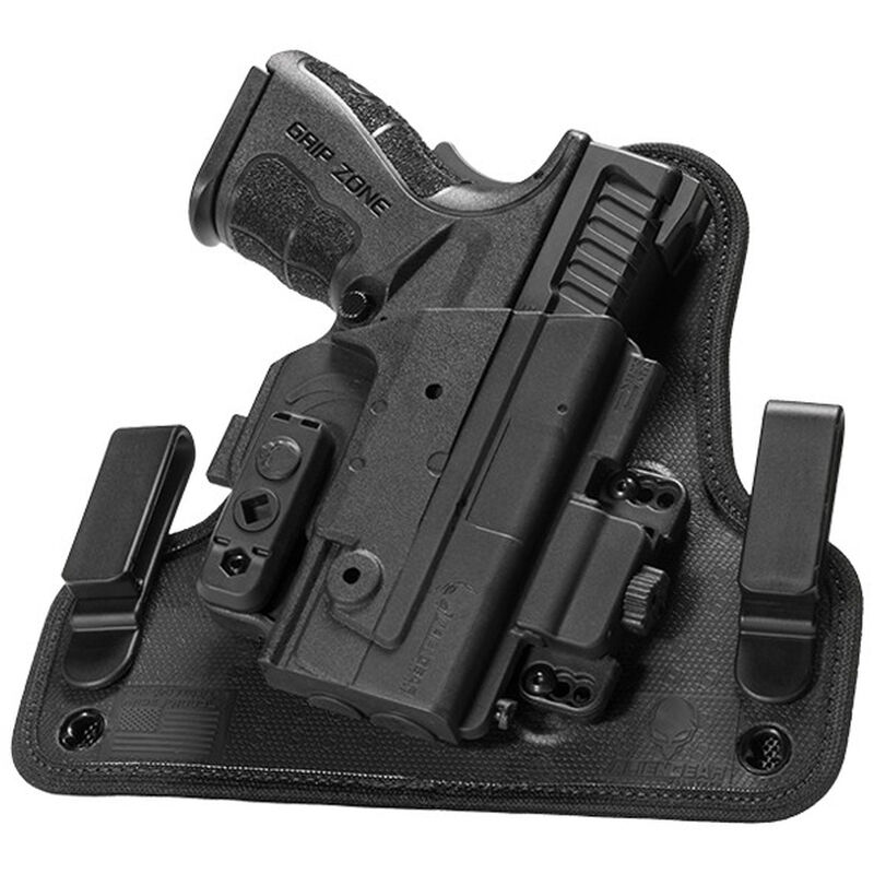 """Alien Gear ShapeShift 4.0 Springfield XDS with 3.3"""" Barrel IWB Holster Right Handed Synthetic Backer with Polymer Shell Black"""