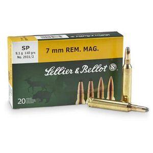 Sellier & Bellot 7mm Remington Magnum Ammunition 20 Rounds SP 139 Grains SB7B