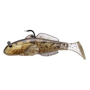 "LiveTarget Lures Goby Paddle Tail 3 5/8"", Number 2/0 Hook Size, Variable Depth, Natural/Gold"