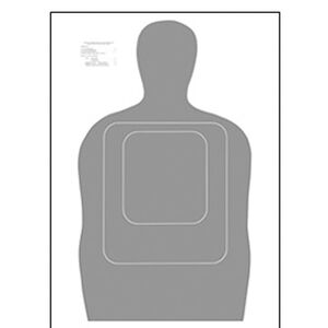 """Action Target TQ-15 Qualification Target 24""""x45"""" Paper Target Gray 100 Pack"""