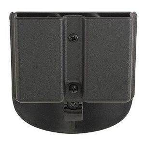 Kydex Double Mag Paddle Pouch 1911s Single Stack Black