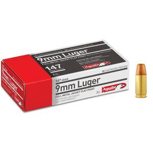 Aguila 9mm Luger 147gr FMJ 950 fps Brass Case 50 Round