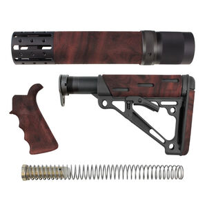 Hogue AR-15 OverMold Furniture Kit Rifle Length Forend Red Lava 15478