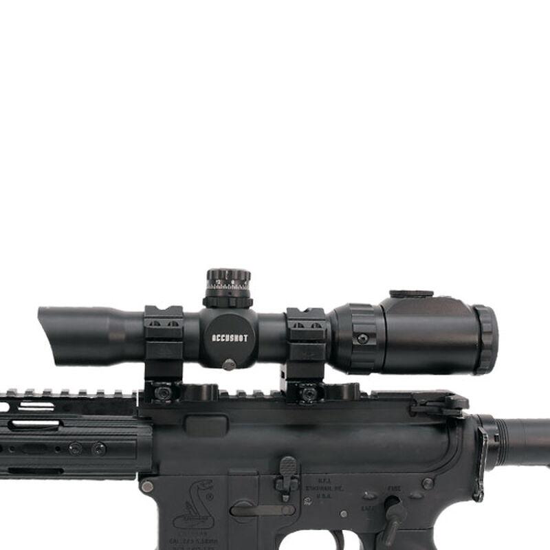 Leapers UTG 1-8x28 CQB MRC Scope 36 Color Mil-Dot Reticle 30mm Tube QD  Rings Matte Black SCP3-18IEMDQ