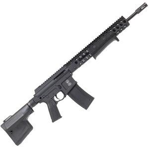 "Troy Industries Optics Ready AR-15 5.56 NATO Pump Action Rifle 16"" Barrel 10 Round Magazine TRX2 Style Hand Guard/Integrated Pump Action Matte Black"