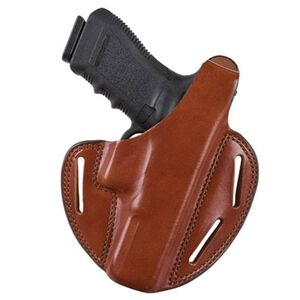 Bianchi #7 Shadow II Pancake Belt Holster Ruger GP100 Super Redhawk Right Hand Leather Tan