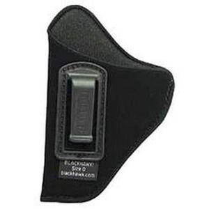 """BLACKHAWK! Inside the Pants Holster for 4 1/2"""" to 5"""" Barrel Large Frame Autos, Left Hand, Belt Clip, Black"""